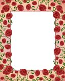 Artsy Folksy Rose Border Frame royalty free illustration