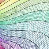 Artsy Hintergrund der modernen Kunst mit der gezeichneten Hand zeichnet in hatchwork Muster und Streifen lizenzfreie abbildung