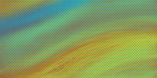 Artsy Hintergrunddesign mit Halbtonmustereffekt der blauen und gelben Pop-Art mit flüssiger Beschaffenheit und Farben des blauen  vektor abbildung