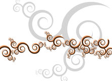 Artsy Swirls Swoosh Royalty Free Stock Photo