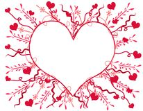 Artsy Valentine's Day Heart Card 2 Royalty Free Stock Photos