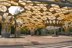 The artsy yellow cover in the Perdana Botanic Garden in Kuala Lumpur Malaysia royalty free stock images