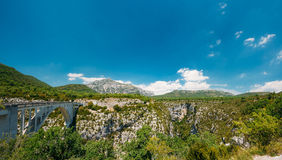 Artuby Bridge And Panorama Of The Verdon Gorge In France. Royalty Free Stock Images
