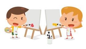 Żartuje aktywność Dzieciaków malować Obrazy Stock