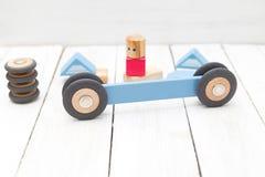 Żartuje drewnianych elementy Organicznie drewniane zabawki Zdjęcia Stock