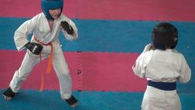 Żartuje karate rywalizację zdjęcie wideo
