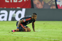 Arturo Vidal during the UEFA Champions League game between Olymp Stock Image
