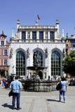 Artus Court av Gdansk i Polen Royaltyfri Fotografi