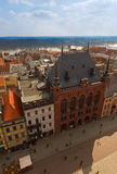 Artus Court, market square Torun, Poland. Artus Court (Dwor Artusa) on market square in Torun, Poland royalty free stock image