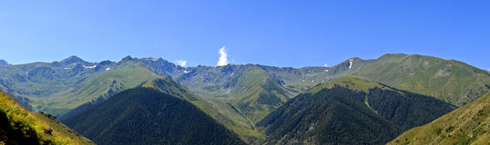 Artvin Mountains. Green in the Black Sea, the mountains of Artvin Royalty Free Stock Images