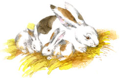 Artwork �Rabbits� Stock Images