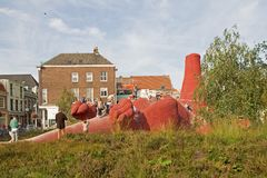 Artwork Aardvark in Arnhem. Stock Photos