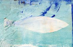 Artwork abstract fish. Abstract acrylic painting with fish, artwork is created and painted by myself; artwork Royalty Free Stock Photos