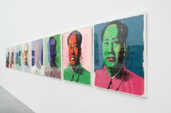 An artwork by Andy Warhol in the famous Tate Modern in London. Andy Warhol - Mao Tse-Tung. A framed painting in the famous Tate Modern, located in the heart of stock photo