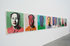 An artwork by Andy Warhol in the famous Tate Modern in London Stock Photography