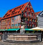 Artwork in Augsburg, Germany stock photography