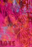 Artwork background love Stock Photography