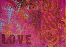 Artwork background love Royalty Free Stock Photos
