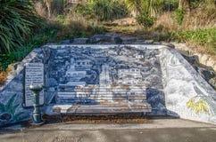 Artwork in Baldwin Street,New Zealand. Stock Photo