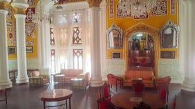 Artwork at Banglaore Palace, Bengaluru, India. BENGALURU, INDIA - FEBRUARY 20, 2017: Interior decoration of famous Bangalore Palace. It was private residence of Stock Photography