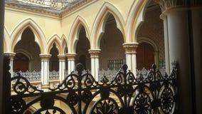 Artwork at Banglaore Palace, Bengaluru, India. BENGALURU, INDIA - FEBRUARY 20, 2017: Interior decoration of famous Bangalore Palace. It was private residence of stock image