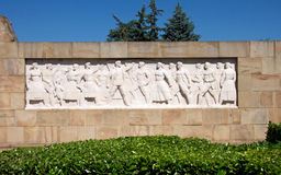 Artwork bas-relief dedicated to the liberators of Belgrade, Serbia Royalty Free Stock Images