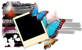 Artwork with butterflies stock illustration