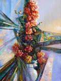 artwork Camélia no vaso Autor: Nikolay Sivenkov ilustração royalty free
