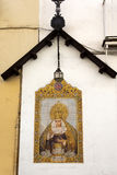 Artwork with ceramic tiles of the Virgin Mary Royalty Free Stock Images
