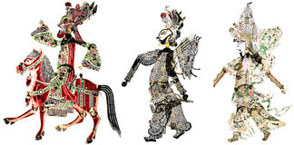 Artwork of chinese shadow art Royalty Free Stock Photos