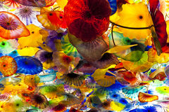 Artwork  by Dale Chihuly in Bellagio Hotel Casino Royalty Free Stock Images