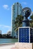 Artwork displayed along the Riverwalk,Miami,Florida,Summertime,2013 Royalty Free Stock Photo