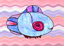 Artwork of fantastic fish Royalty Free Stock Images