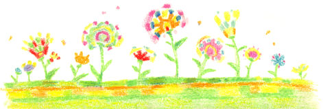"Artwork ""Flowers"" stock photo"