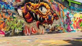 Artwork on Graffiti street Ghent, Belgium stock image