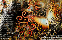 Artwork in grunge style Royalty Free Stock Images