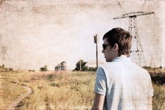 Artwork in grunge style,  anticipation Royalty Free Stock Photography