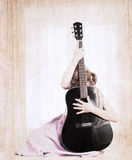 Artwork  in grunge style,  music Royalty Free Stock Photography
