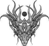 Artwork head dragon ornament royalty free illustration