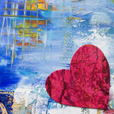 Artwork with heart Royalty Free Stock Photos