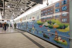 The Artwork of Hong Kong MTR Lei Tung Station Royalty Free Stock Images