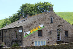 Artwork on house for visit of Tour de France 2014 Royalty Free Stock Images