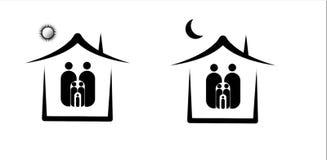 artwork , Illustrator , family , house , home vector illustration