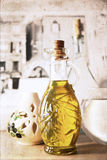 Artwork In Retro Style, Olive Oil Stock Images