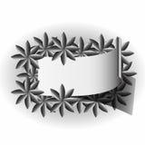 Artwork label. Floral patterns frame Royalty Free Stock Photo