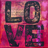 Artwork with love. Painting with word love, artwork is created and painted by myself Royalty Free Stock Images