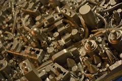Artwork made from electronic parts Royalty Free Stock Images