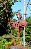 Artwork made by waste iron material. Warrior - Artwork made by waste iron material in Bhopal, India stock images