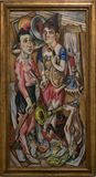 An artwork by Max Beckmann in the famous Tate Modern in London Stock Photos