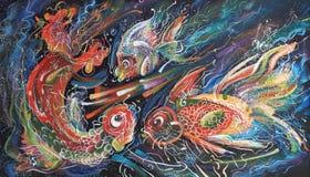 artwork O trio do mar Autor: Nikolay Sivenkov Imagens de Stock Royalty Free